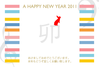 年賀状素材-new year the piano